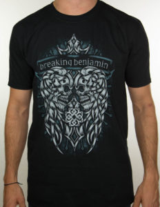 "BREAKING BENJAMIN ""Skulls"" T-Shirt BLACK - XL"