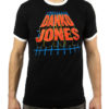 "DANKO JONES ""Van Halen"" T-Shirt BLACK / WHITE RINGER"