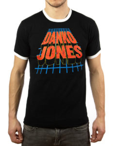 "DANKO JONES ""Van Halen"" T-Shirt BLACK / WHITE RINGER - S"