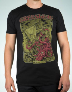 "GREENLEAF ""Squid"" T-Shirt BLACK - M"