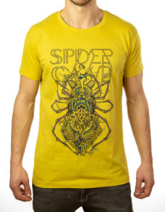 "SPIDERGAWD ""Electric Spider"" T-Shirt YELLOW - S"