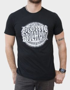 "THE ATOMIC BITCHWAX ""Logo"" T-Shirt BLACK - S"