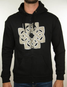 "BREAKING BENJAMIN ""foiled"" Zip-Hooded BLACK - S"