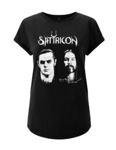 "SATYRICON ""Two faces"" Girls-Shirt BLACK - S"