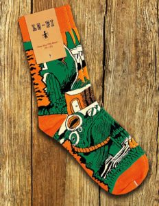 "GRAVEYARD ""Maarten"" Socks ORANGE/GREEN"