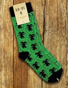 "Lo-Fi Collection ""Doomjumper"" Socks GREEN/BLACK"