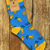 "MILLENCOLIN ""Bird"" Socks YELLOW/BLUE"