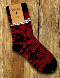 "MONSTER MAGNET ""Space Lord"" Socks BLACK/RED"
