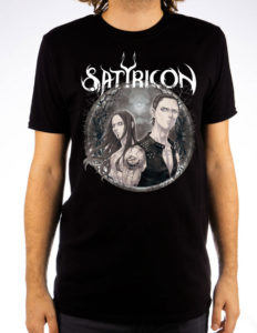 "SATYRICON ""Manga"" T-Shirt BLACK - M"