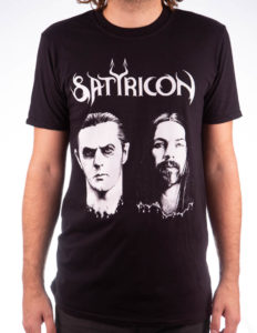 "SATYRICON ""Two Faces"" T-Shirt BLACK - S"