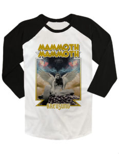 "MAMMOTH MAMMOTH - ""Kreuzung"" Baseball Tee with 3/4 sleeves BLACK/WHITE - L"